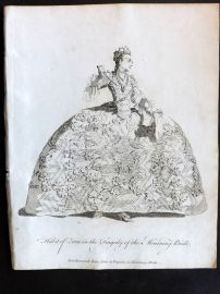 Jefferys C1760 Theatre Costume Print. Zara in the Tragedy of the Mourning Bridge